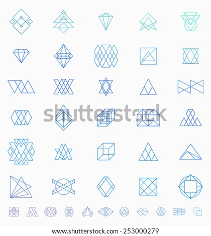 Set of Retro Vintage Hipster Insignias and Logotypes. Business Signs, Logos, Identity Elements, Labels, Badges, Frames, Borders and Other Design Elements. - stock vector