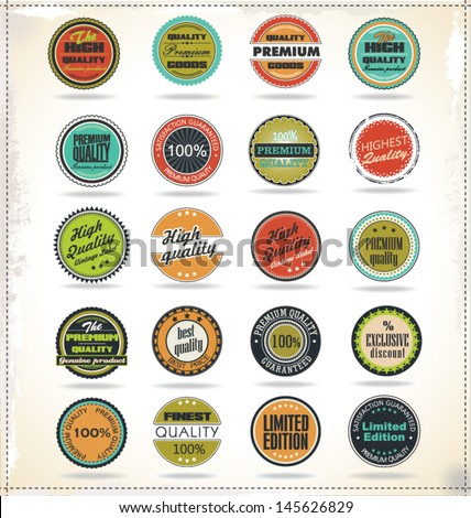 Set of Retro Vintage labels - stock vector