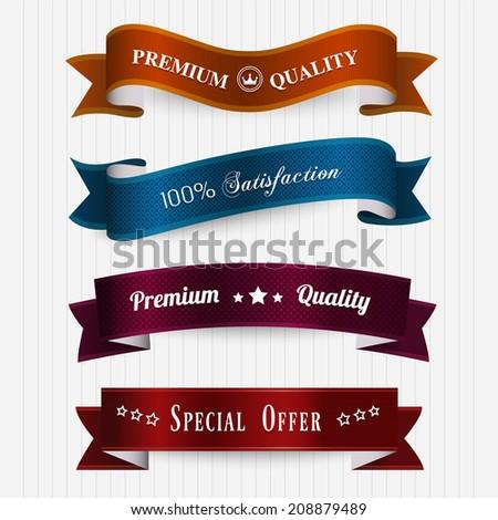 Set of retro vintage labels. - stock vector