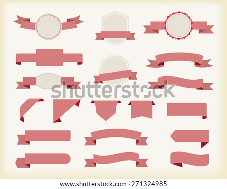 Set of ribbons.Ribbon banner vector illustration.
