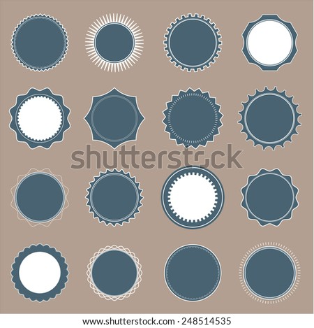 Set of round badge shapes - stock vector