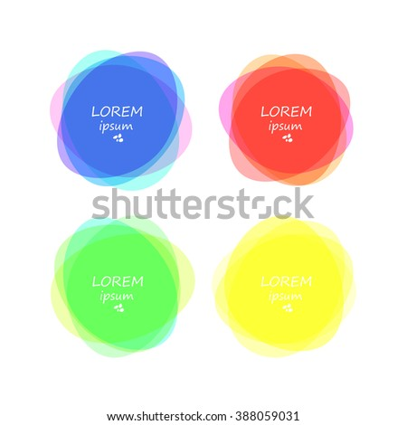 Set of round colorful vector shapes. Abstract vector banners. Design elements. - stock vector
