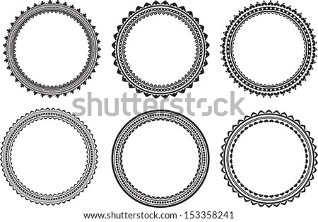 Set of round frames  - stock vector
