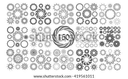 Set of round frames. Vector - stock vector