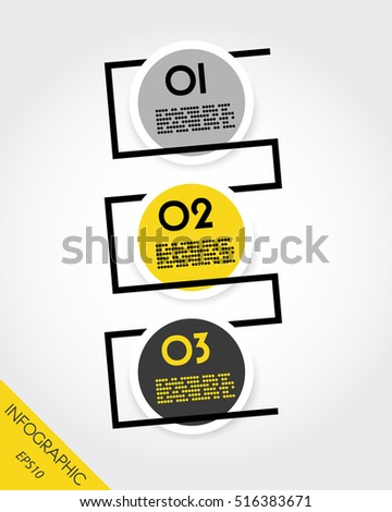 set of round infographic stickers with line, modern concept