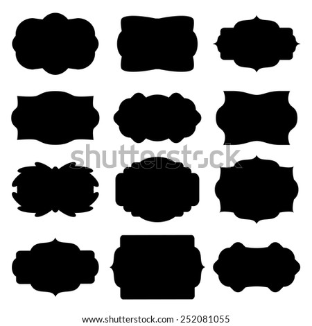 Set of round stickers border for messages. - stock vector