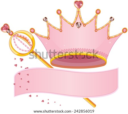 Set of Royal Regalia with copy space - stock vector