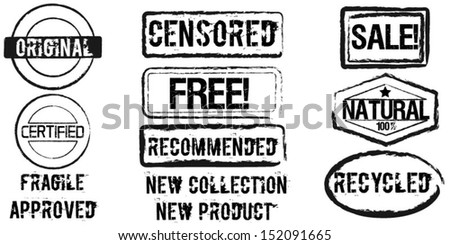 Set of rubber stamps - stock vector