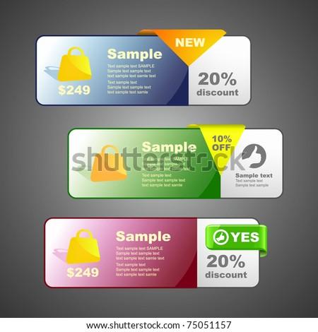 Set of sale banner. Vector illustration (eps10). - stock vector