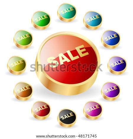 Set of sale buttons for web