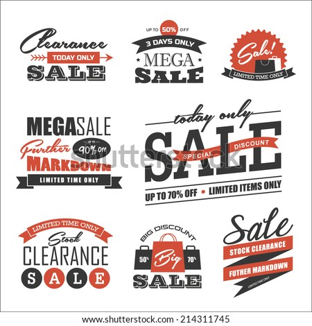 Set of sale icon/symbol and design elements - stock vector