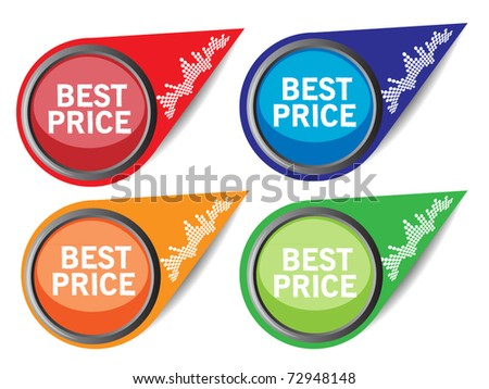 Set of sale pointer - stock vector