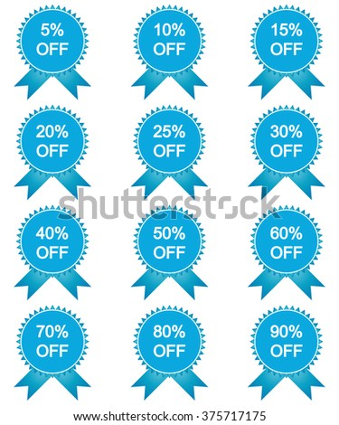 Set of sale stickers, labels on white background. Vector illustration.