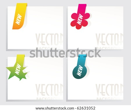 set of  sale tags - stock vector
