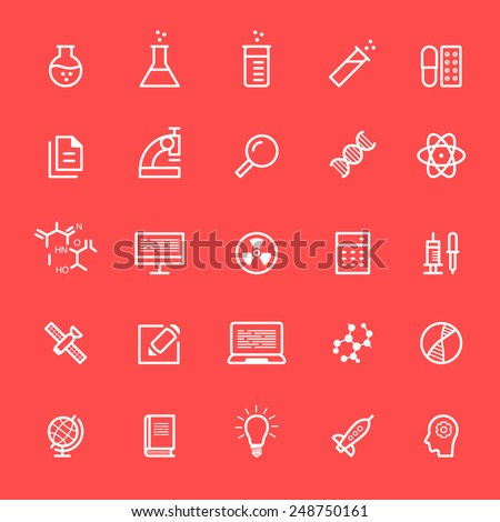 Set of science icons - stock vector