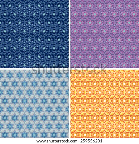 Set of seamless abstract geometric pattern. Traditional Ukrainian ornament. Hipster background. - stock vector