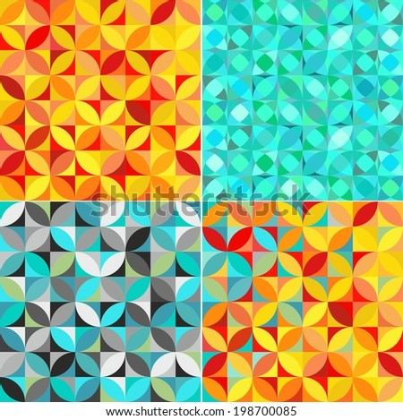 Set of seamless decorative pattern - stock vector