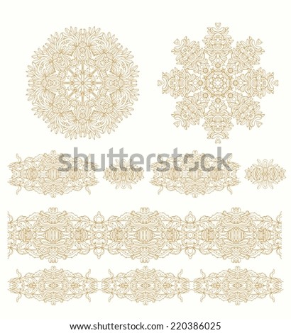 Set of seamless decorative ribbons - stock vector