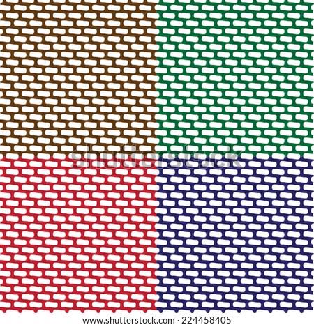 Set of Seamless Patterns of Brick Walls.  - stock vector