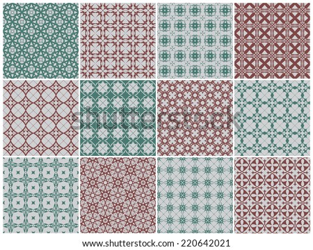 Set of seamless patterns. Vector illustration. - stock vector