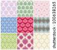 set of seamless vintage background - stock vector