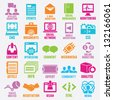 Set of seo and internet service icons - part 3 - vector icons - stock vector