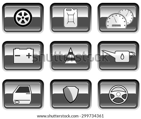 set of service repair icons. vector illustration - stock vector