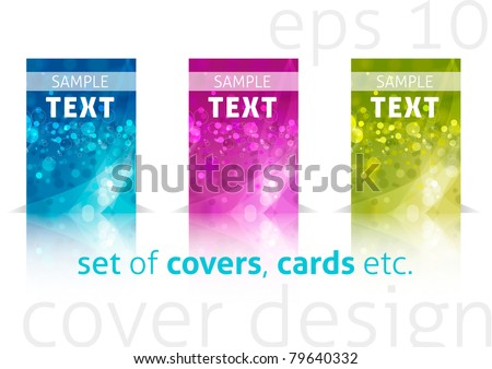 Set of shiny blank covers (eps10) - stock vector