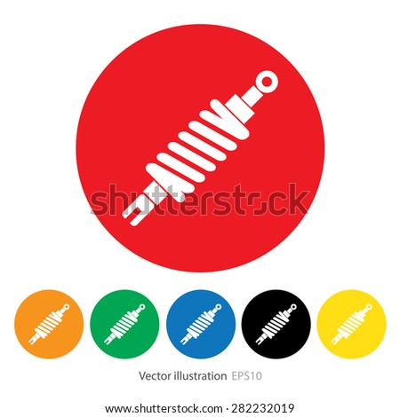 Set of shock absorber icon. - stock vector
