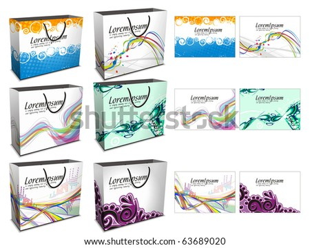 Set of shopping bag isolated on white background. - stock vector