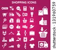 Set of shopping icons. Vector illustration - stock vector