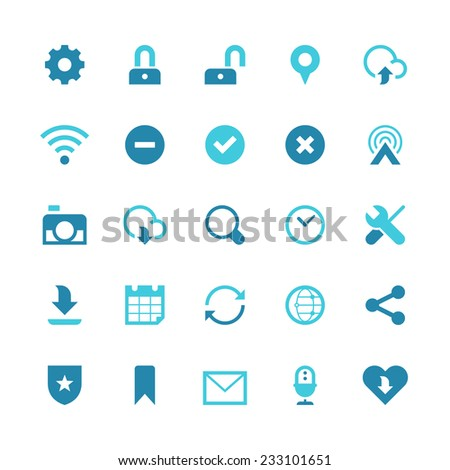 Set of 25 shopping vector icons.  They can be perfectly applied in graphic design and web or mobile devices.  - stock vector