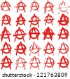 set of signs anarchy - stock vector