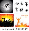 Set of silhouettes for sports championships - stock photo