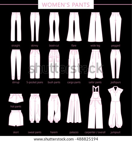 Different types of dress pants style
