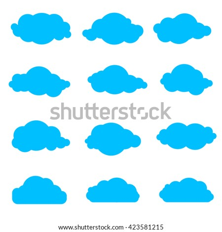set of simple clouds