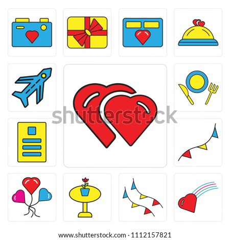 set 13 simple editable icons such stock vector 1112157821 shutterstock