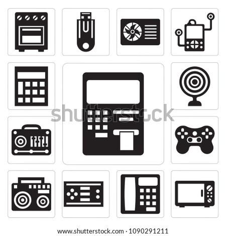 Set 13 Simple Editable Icons Such Stock Vector 1090291211 Shutterstock
