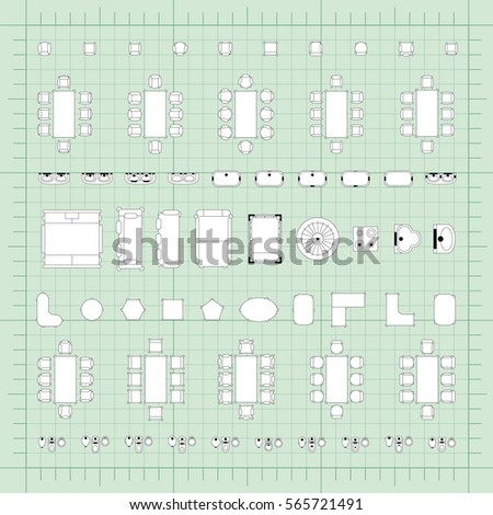 Set simple flat vector furniture icons stock vector 565721491 set of simple flat vector furniture icons on blueprint technical grid background malvernweather Choice Image
