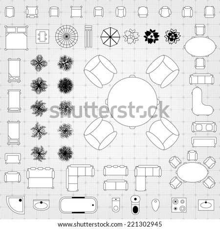Floor Plan Icons Stock Images, Royalty-Free Images