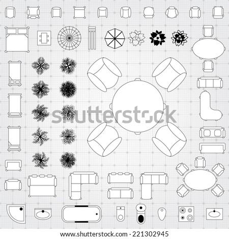 Furniture Plans Drawings Furniture For Floor Plan