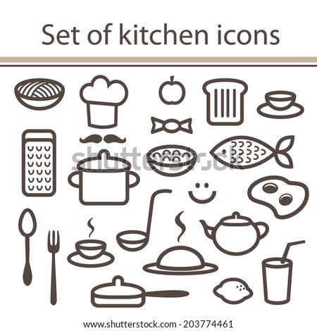 Stock images similar to id 249945538 cute baby bunny and for Kitchen set vector