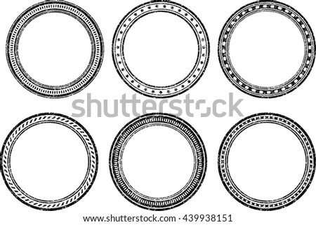 set six grunge vector templates rubber stock vector royalty free