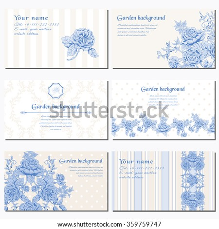 Vintage french business cards gallery card design and card template vintage french business cards gallery card design and card template set six horizontal business cards delicate reheart Gallery