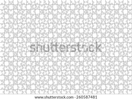 Set of six hundred puzzle pieces.  Vector illustration, eps 8. - stock vector