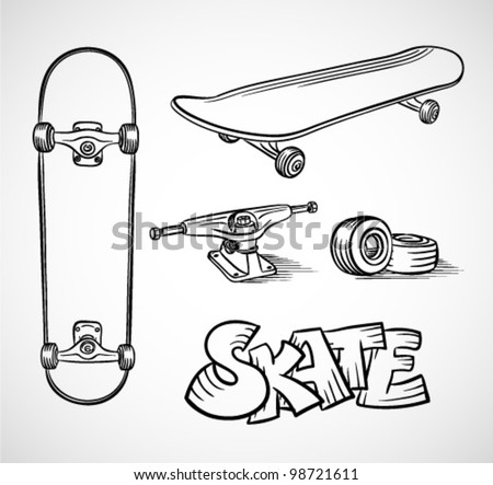 longboard truck template - skateboard wheel stock images royalty free images