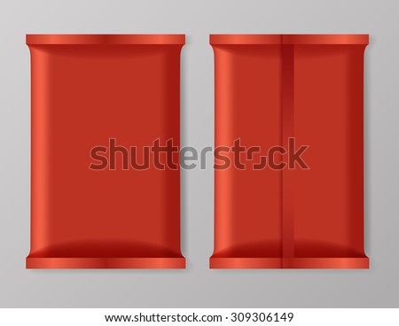 Set of Snack Foil Packaging : Vector Illustration - stock vector