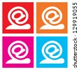 Set of snails - email icons, vector illustration - stock photo