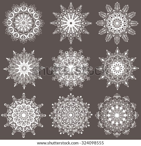 Set of snowflakes.  - stock vector