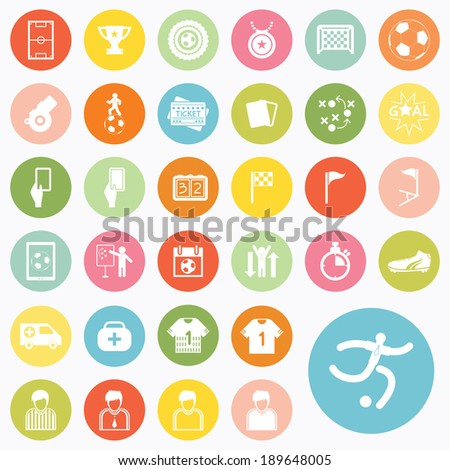Set of soccer icons design - stock vector